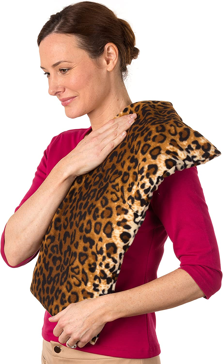SunnyBay Extra Large Body Heating Wrap Back Pain Relief Personal Reusable Hot & Cold Compress Moist Heat (Leopard)