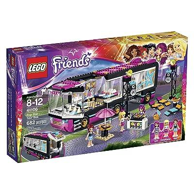 Lego Friends 41106 Pop Star Tour Bus Building Kit: Toys & Games