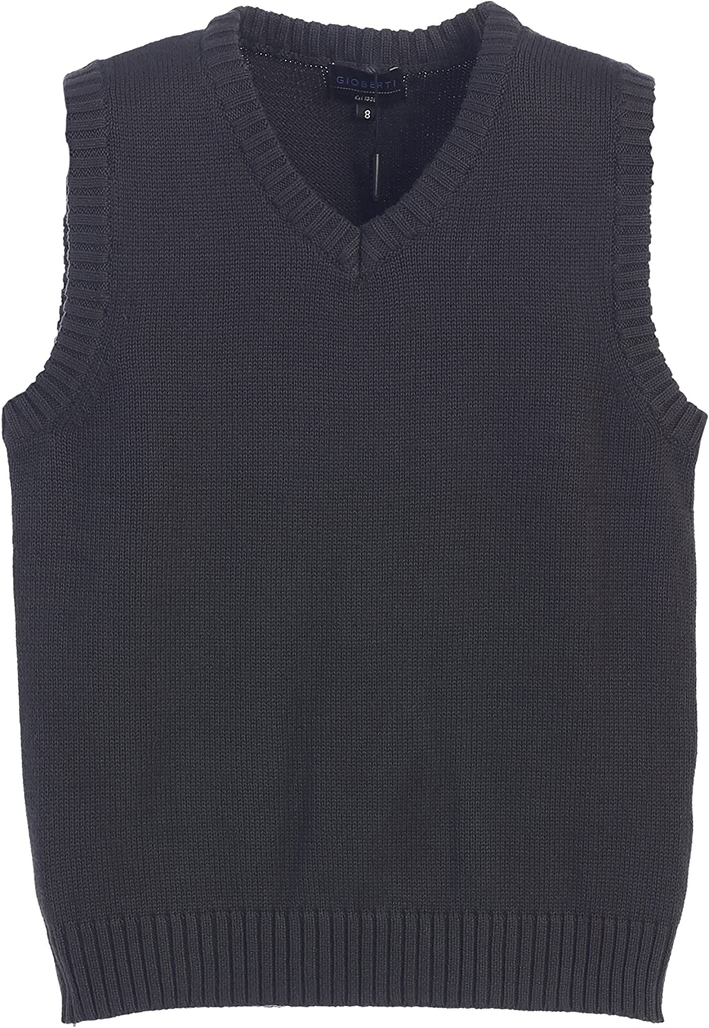 Charcoal Gioberti Boys V-Neck Knitted Pullover Sweater Vest Size 12