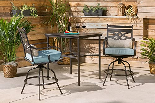 Hanover MCLRDN3PCBRSW2-BLU Montclair 3 Piece High-Dining Set
