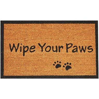 Envelor Doormat Outdoor Welcome Coir Non Slip Backing Shoe Scraper Wipe Your Paws 18 x 30 Inches Door Mat