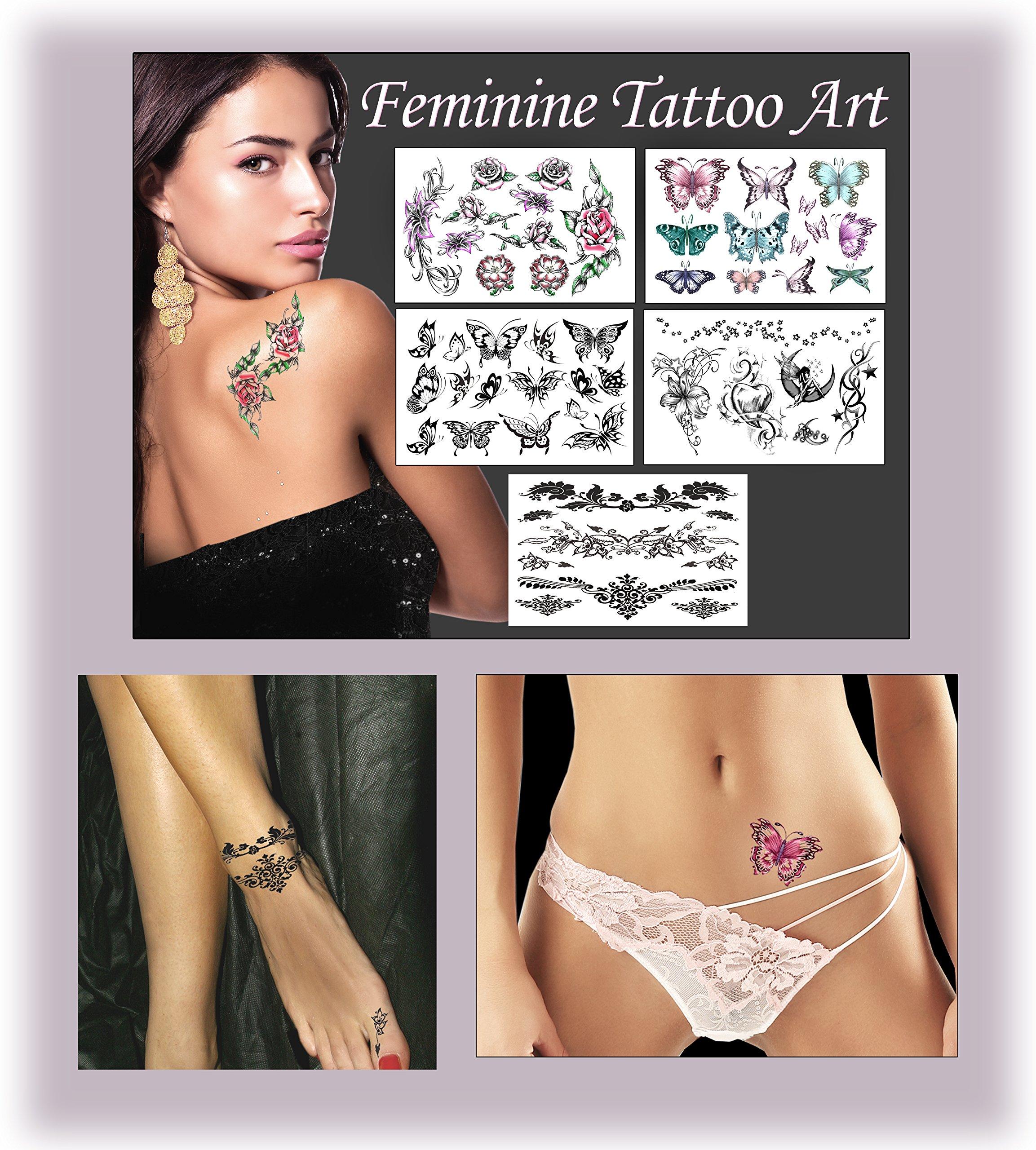 Feminine Temporary Tattoos by TEMPORARY TATTOO FACTORY (Image #1)