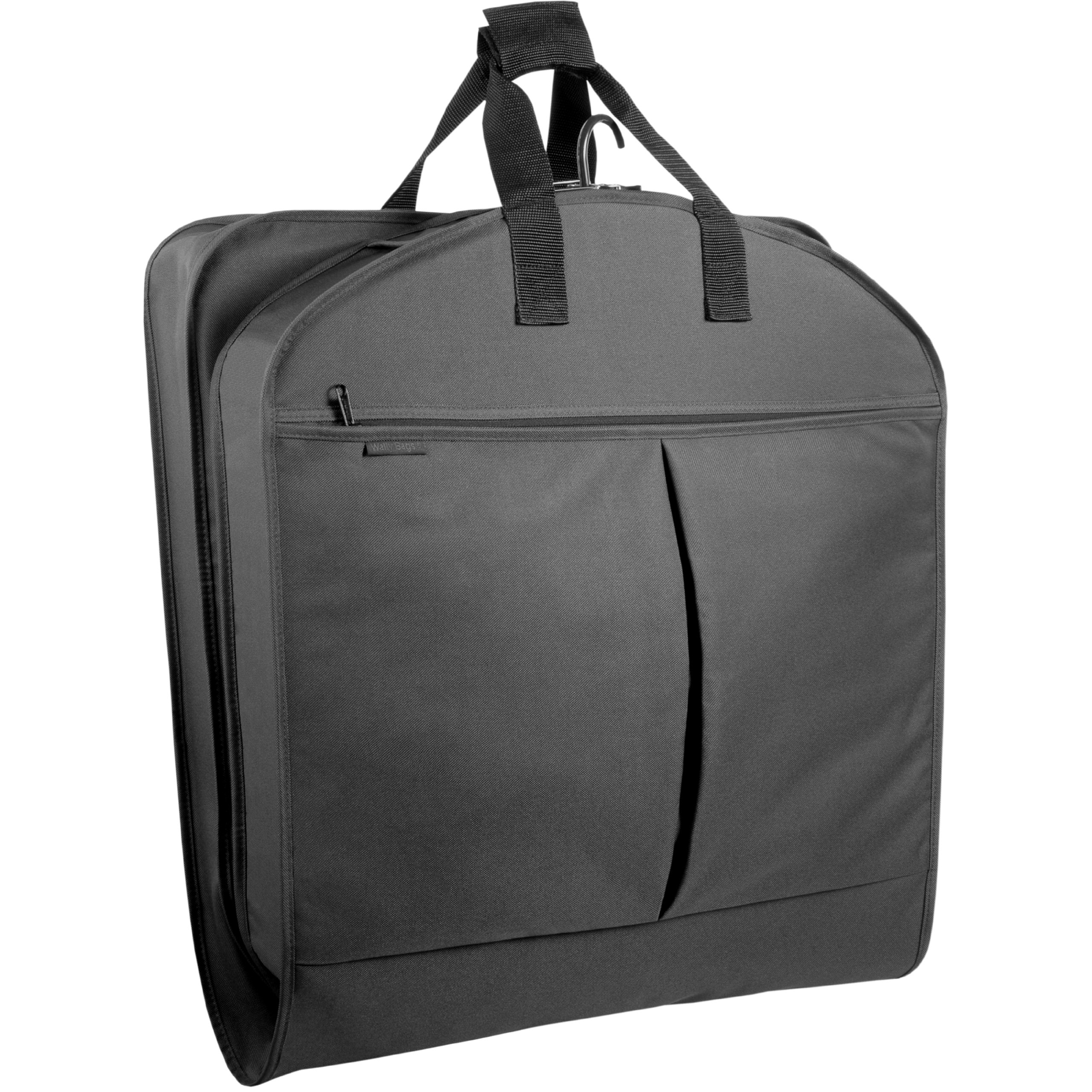 WallyBags 52-inch Dress Length, Carry-On Garment Bag with Two Pockets