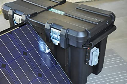 Amazon com : Portable 2500 Watt 200Ah Solar Generator & Two