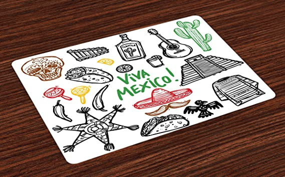 Review Lunarable Mexican Place Mats