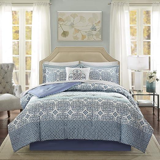 Amazon Com Madison Park Essentials Sybil Comforter Set Cal