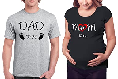 306357a9 Amazon.com: Matching Maternity Couple Shirts - Dad & Mom to be T Shirt - Pregnancy  Clothes: Clothing