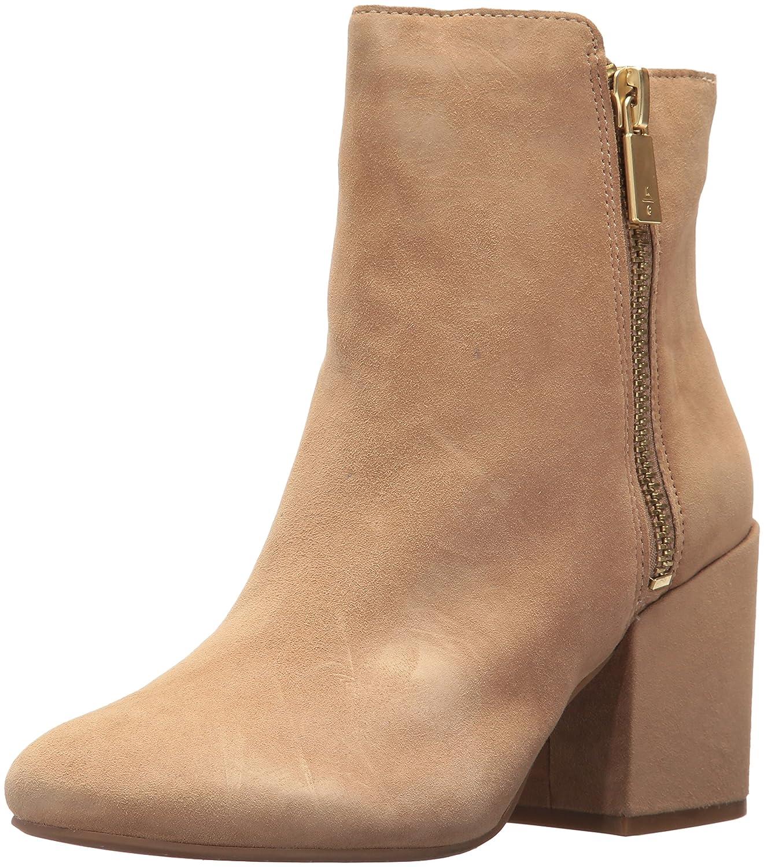 Kenneth Cole New York Women's Rima Bootie with Double Zip Block Heel Suede Boot B06ZZ6KZG8 7.5 B(M) US|Almond