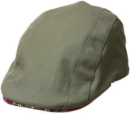 4dbc4d84 Kangol Men's Placket Adjustable Ivy Cap with Tartan Lining and Trim, Army  Green, ...