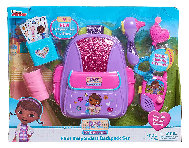 cd8ce9da34f Doc McStuffins 92336 First Responders Backpack Set  Amazon.co.uk  Toys    Games
