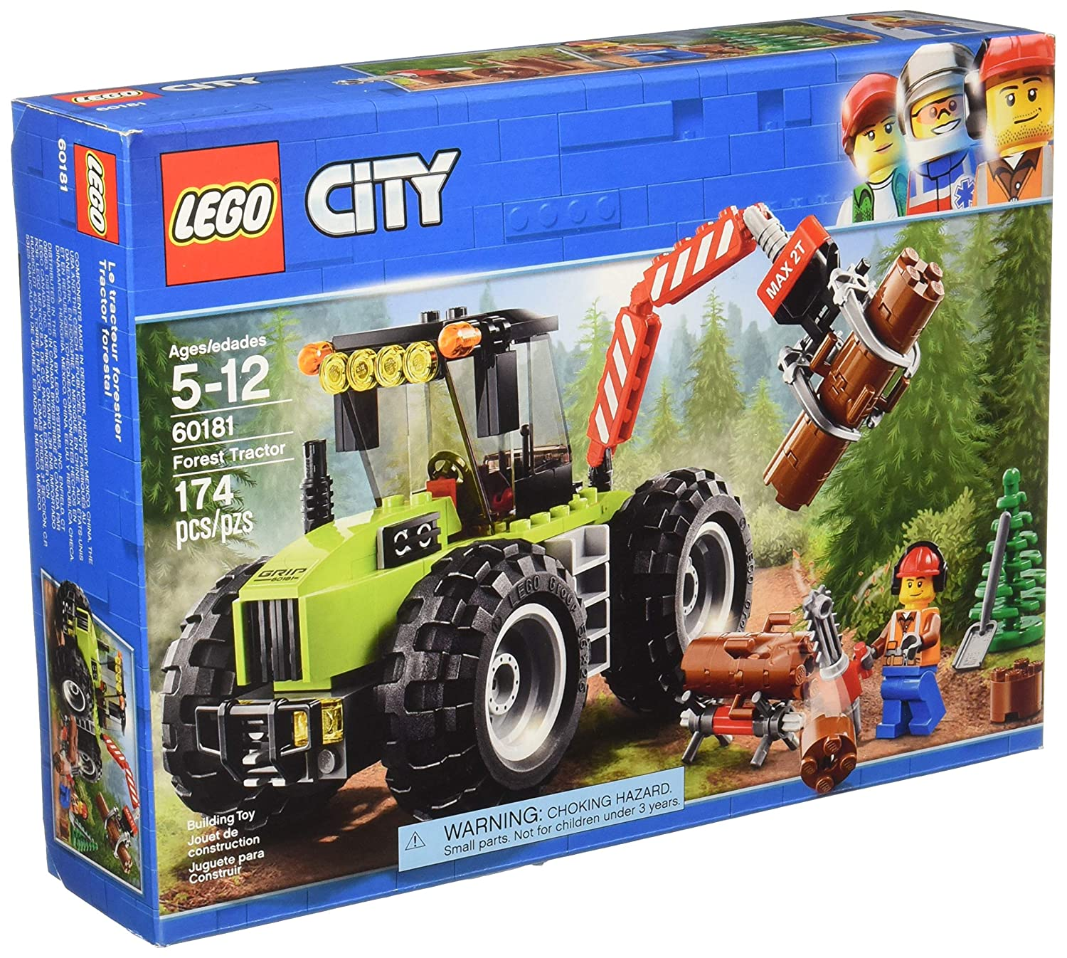 LEGO City Forest Tractor 60181 Building Kit (174 Piece)