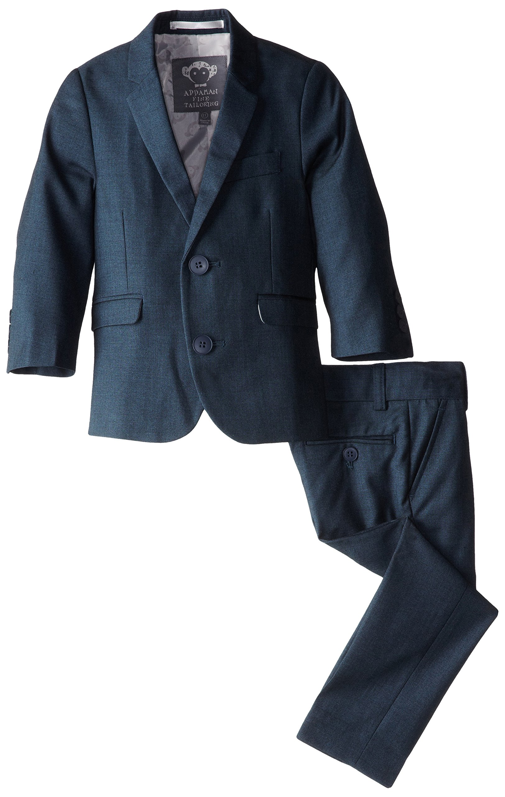 Appaman Little Boys' Two Piece Classic Mod Suit, Shark, 4
