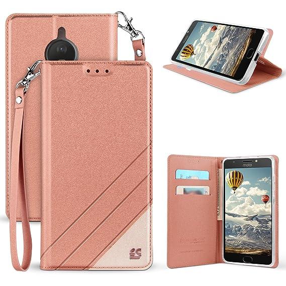 wholesale dealer e7536 67104 Motorola Moto E4 Case, Moto E4 Wallet Case, Mstechcorp, Wrist Strap Flip  Folio [Kickstand] Pu Leather Wallet Case with ID&Credit Card Slot For Moto  E4 ...