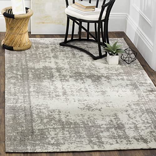 Safavieh Classic Vintage Collection CLV225B Silver and Ivory Area Rug 3 x 5