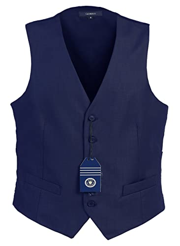 1940s Men's Costumes: WW2, Sailor, Zoot Suits, Gangsters, Detective Gioberti Mens 5 Button Formal Suit Vest $25.99 AT vintagedancer.com