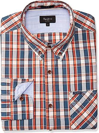 Pepe Jeans Camisa Curtis Naranja de Hombre. M Naranja: Amazon.es: Ropa y accesorios