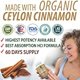 Ceylon Cinnamon Capsules - 1200mg 60 Days Supply