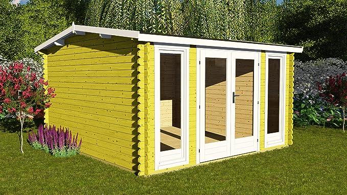 AL Wood Ltd - Casa de Verano para jardín (3, 9 m x 3 m, 40 mm): Amazon.es: Jardín