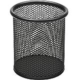 Osco - Bicchiere portapenne in rete metallica, altezza 9,4 cm, ø 8,2 cm, colore: Nero