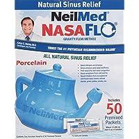 NeilMed Nasaflo Porcelain Neti Pot, 50 Count (packaging may vary)