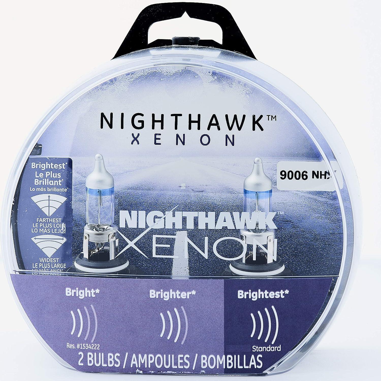 GE Lighting 9006 NHX/BP2 Nighthawk Xenon Halogen Replacement Bulb, 2-Pack