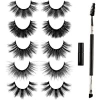 False Eyelashes Fluffy 3D Long Mink Lashes Natural Look 5 Styles Dramatic Thick Fake Eyelashes Light Volume 5 Pairs Long…