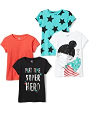 25c385b78a02f Spotted Zebra Girls  4-Pack Short-Sleeve T-Shirts