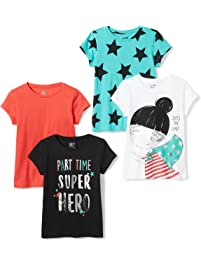 Spotted Zebra Girls 4 Pack Short Sleeve T Shirts