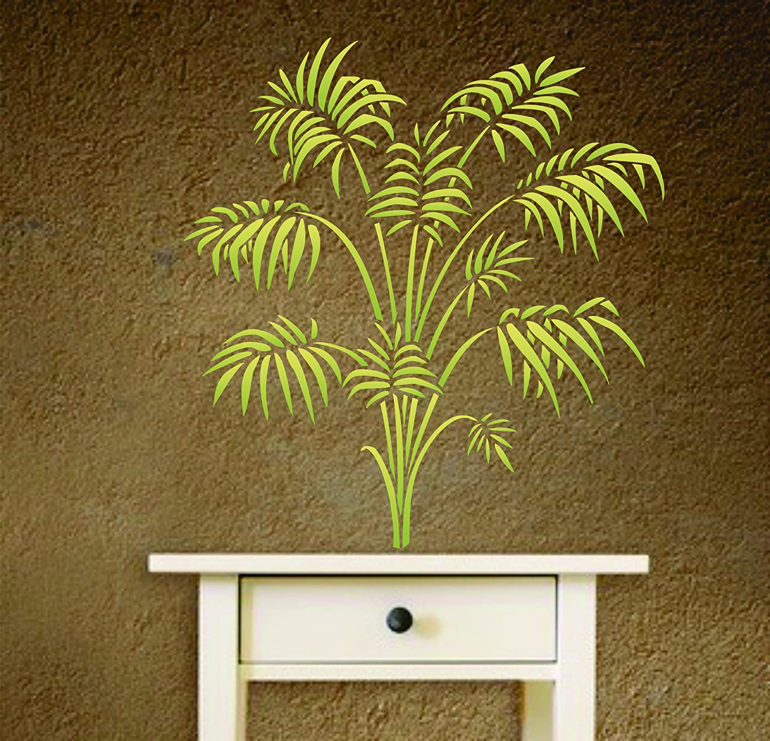Amazon bamboo palm stencil size 13w x 14h reusable wall amazon bamboo palm stencil size 13w x 14h reusable wall stencils for painting best quality victorian parlor palm ideas use on walls floors amipublicfo Gallery