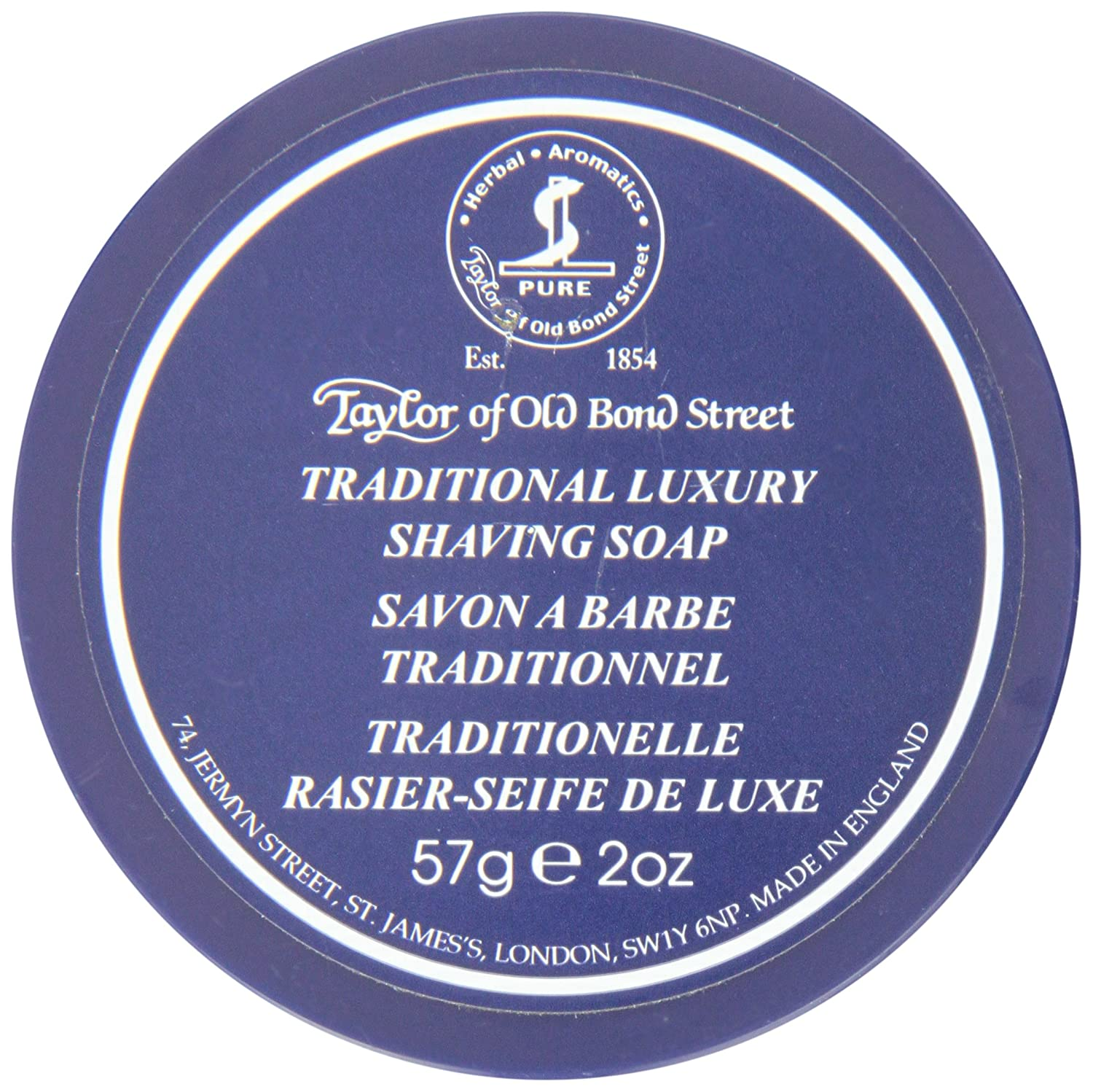 Taylor of Old Bond Street Travel Traditional Luxury Shaving Soap, 57 Gram Spicy World of USA Inc 1053
