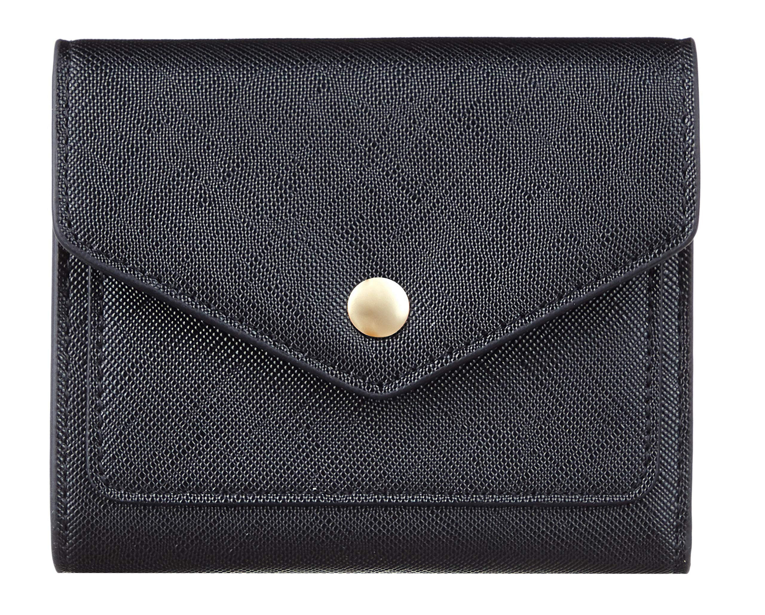 Gostwo Leather Small Wallet for Women RFID Blocking Women's Credit Card Holder Mini Bifold Pocket Purse