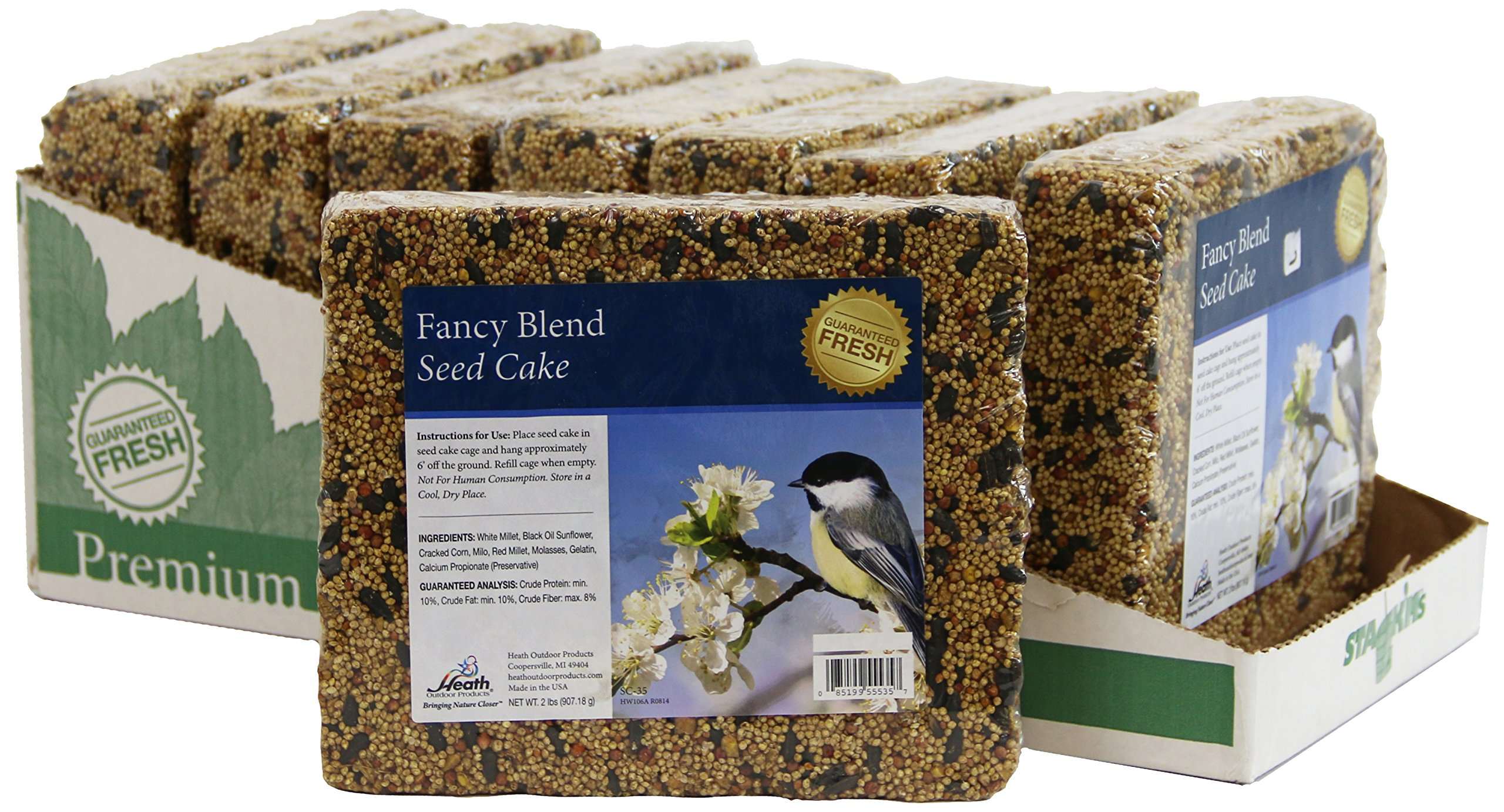 Heath Outdoor Products SC-35-8 Fancy Blend 2-Pound Seed Cake, Case of 8 by Heath Outdoor Products