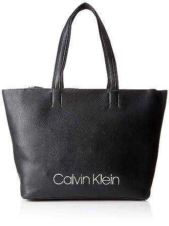 Calvin Klein Jeans - Collegic Shopper, Shoppers y bolsos de hombro Mujer, Negro (