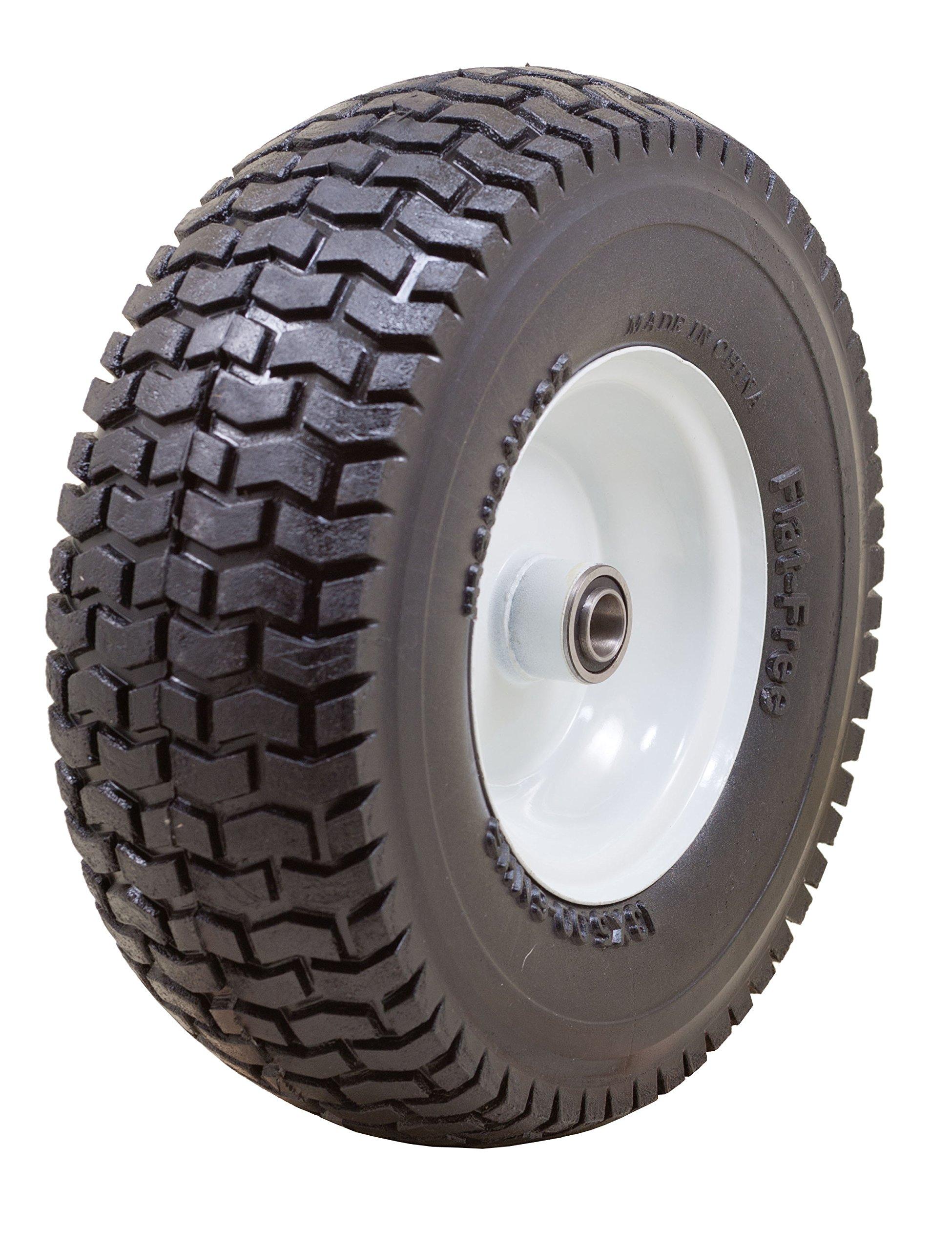 Marathon 13x5.00-6'' Flat Free Tire on Wheel, 3'' Hub, 3/4'' Bearings