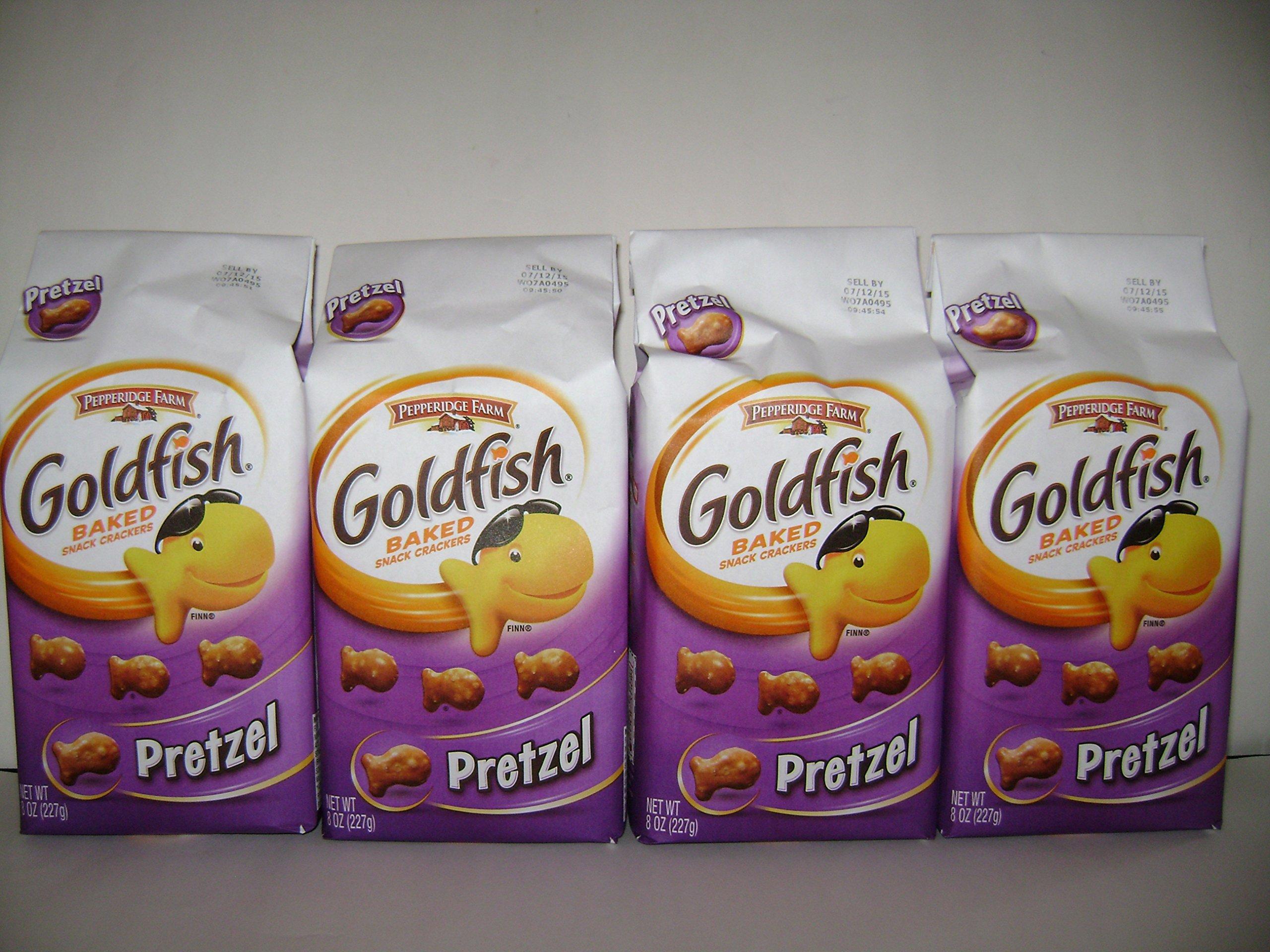 Pepperidge Farm Gold Fish Baked Pretzel (8oz X4 Packs)