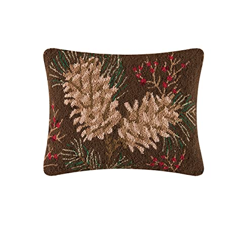 Rustic Retreat Hooked Pillow 14 x18