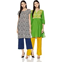Amazon Brand - Myx Women's Cotton Straight Kurti