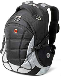 SwissGear SA9769 Black with Light Grey Laptop Computer Backpack - Fits Most 15 Inch Laptops and