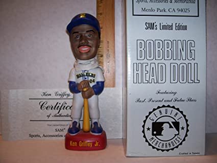 427569bf89 Image Unavailable. Image not available for. Color: 1992 SAM KEN GRIFFEY  WHITE HOME JERSEY BOBBLEHEAD ...