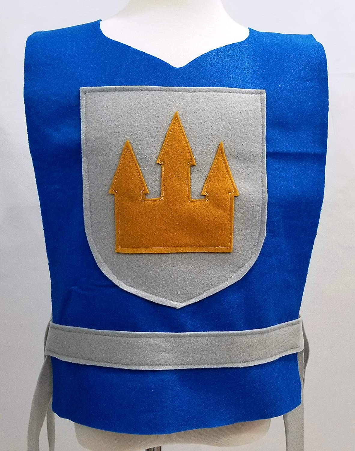 Baby Teen Adult Sizes Kids King, Prince, Medieval, Solider Toddler Royal Blue Knight Costume Tunic