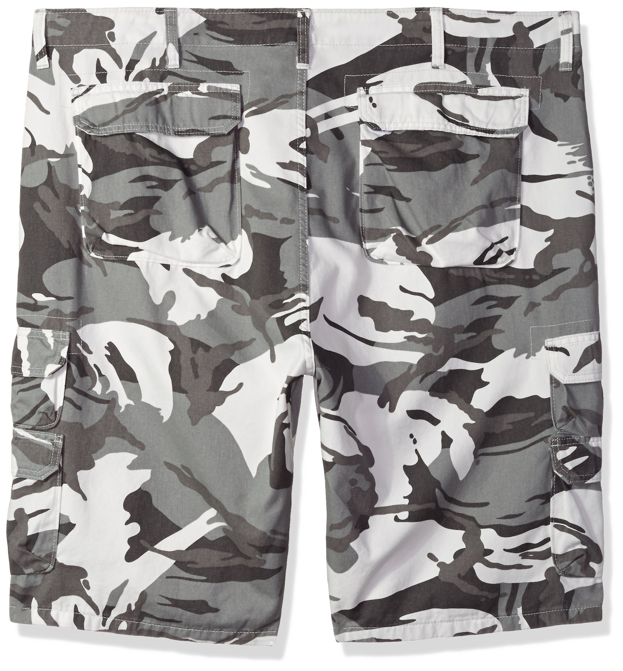 Wrangler Authentics Men's Big and Tall Premium Relaxed Fit Twill Cargo Short, White Camo, 44 by Wrangler (Image #2)
