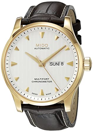 Mido Multifort Gent Leather Automatic Analog Mens Watch M005.431.36.031.00