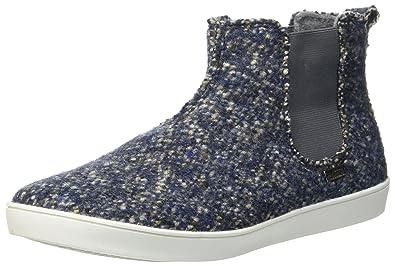 540ec49d918fd Living Kitzbühel Unisex-Erwachsene Boots Tweed Chelsea Hausschuhe, Blau  (Denim), 37