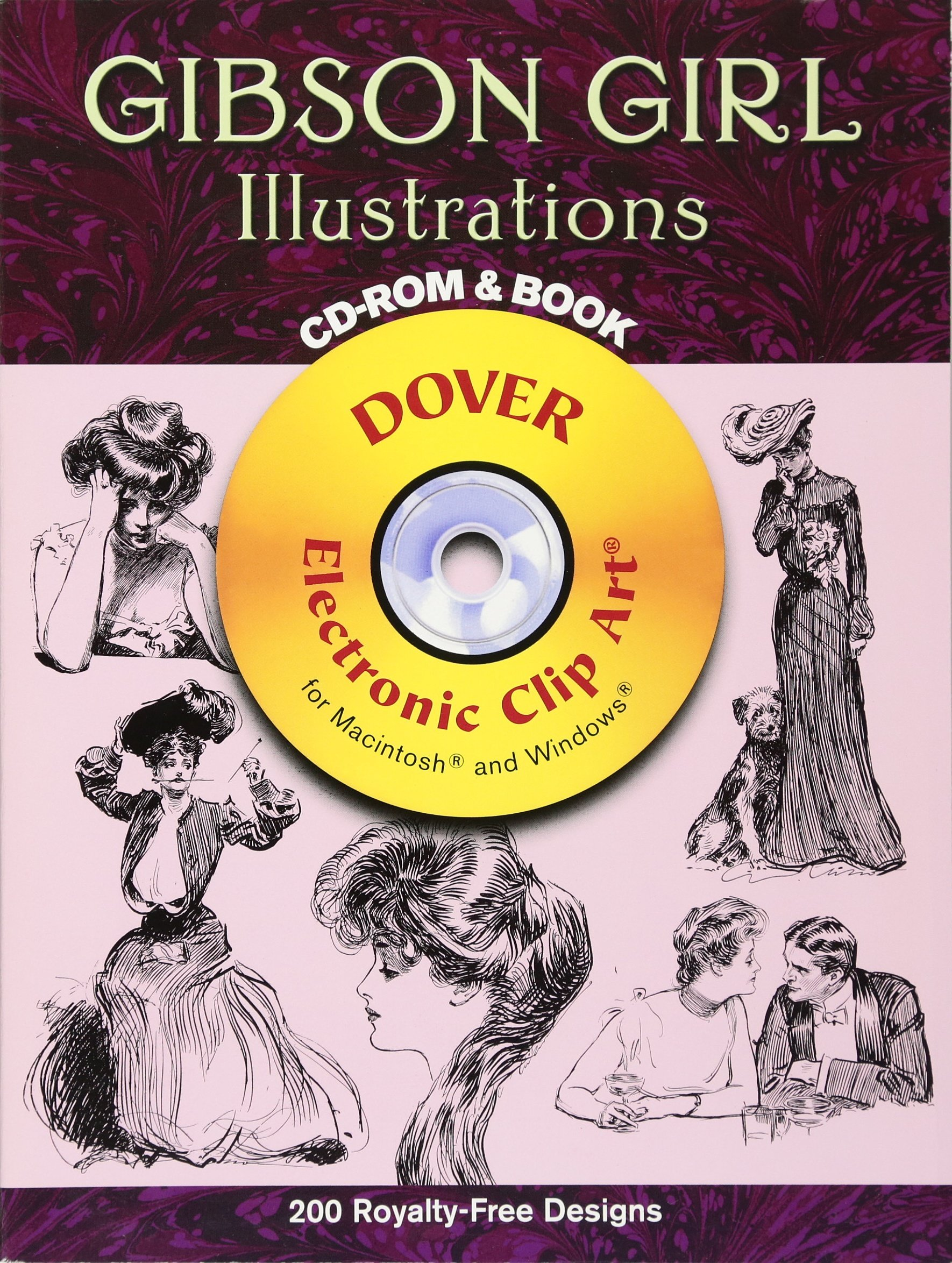 Gibson Girl Illustrations CD-ROM and Book (Dover Electronic Clip Art)