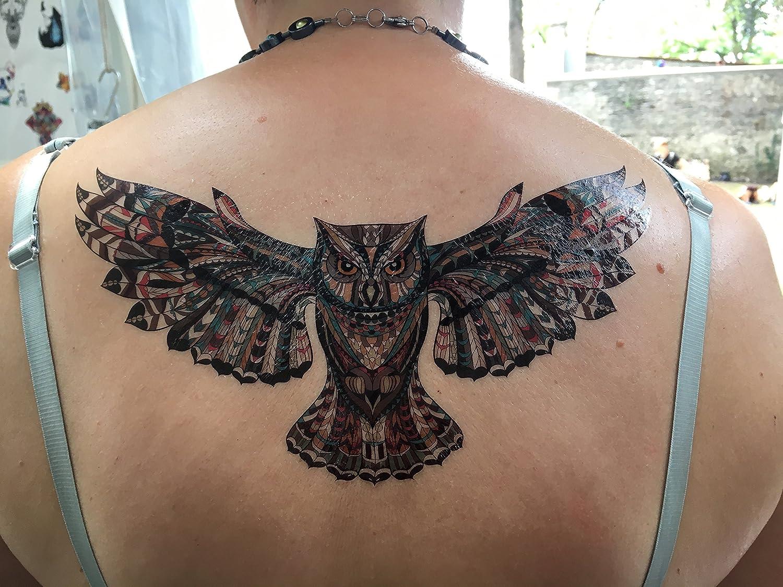 Búho Tattoo Pegatina Tattoo espalda Tattoo Flash Tattoo bc202 ...