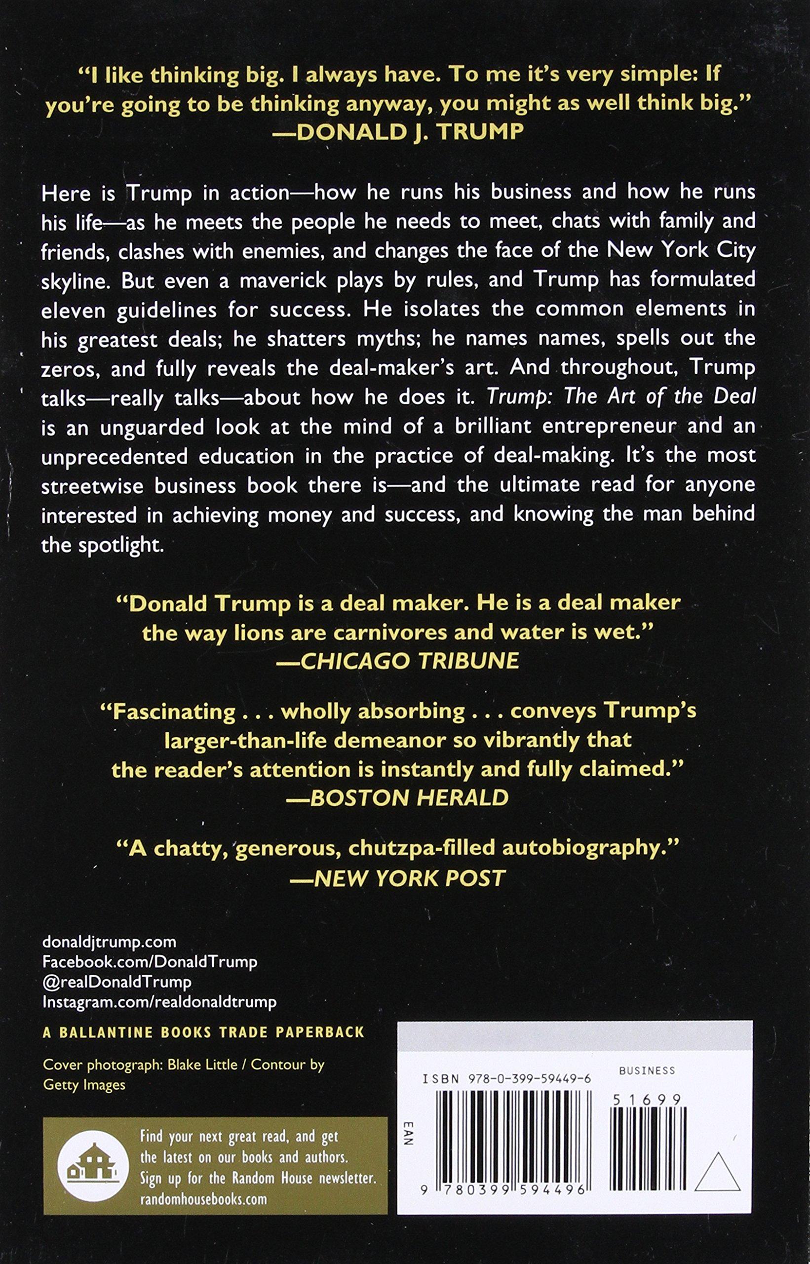 Trump: The Art of the Deal: Donald J. Trump, Tony Schwartz: 9780399594496:  Amazon.com: Books