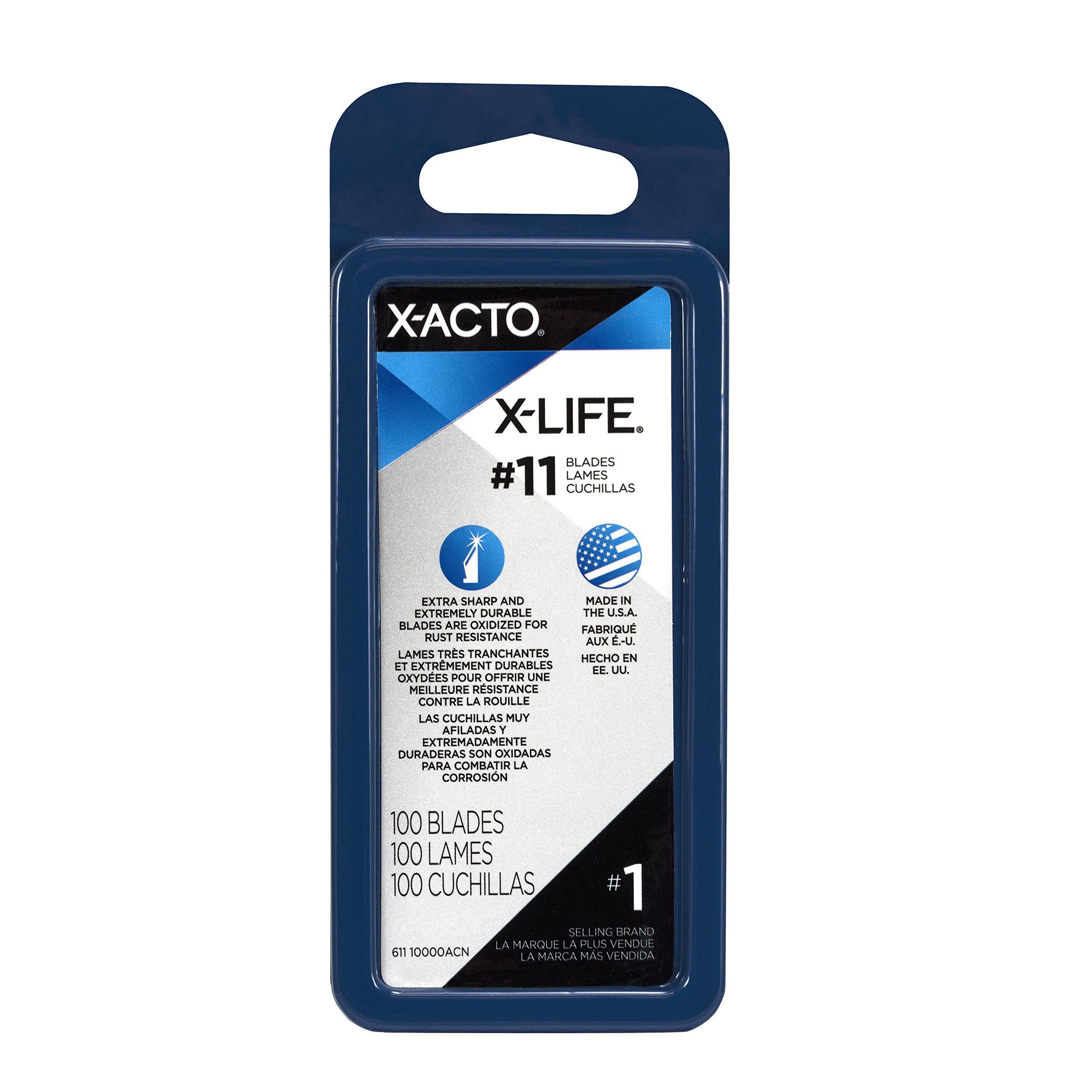 X-ACTO X-Life #11 Classic Fine Point Blades, Bulk Pack, 100 Blades per Box (X611) by X-Acto (Image #2)