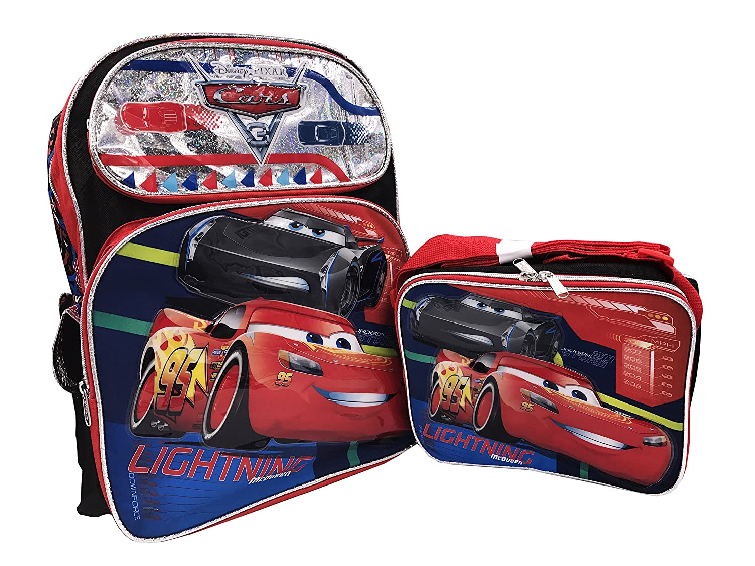 e6e36acf542 Cars 3 Backpack and Lunchbox Combo (Backpack Lunch Box)  Amazon.in  Bags
