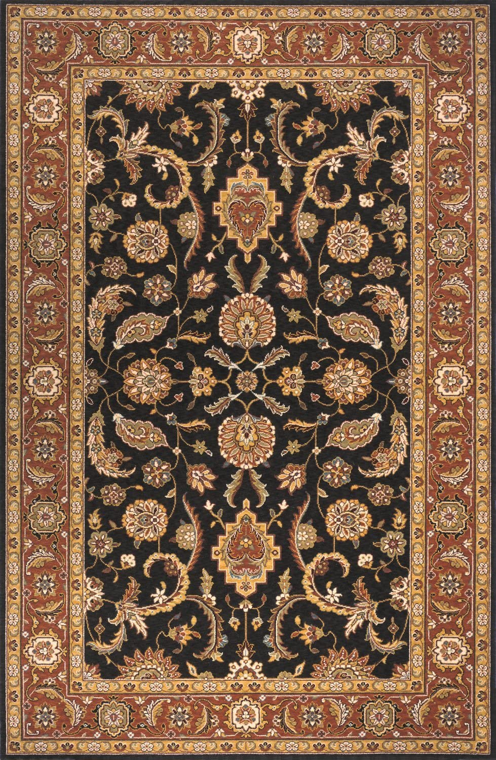 """Momeni Rugs Persian Garden Collection, 100% New Zealand Wool Traditional Area Rug, 2'6"""" x 8' Runner, Salmon Red"""