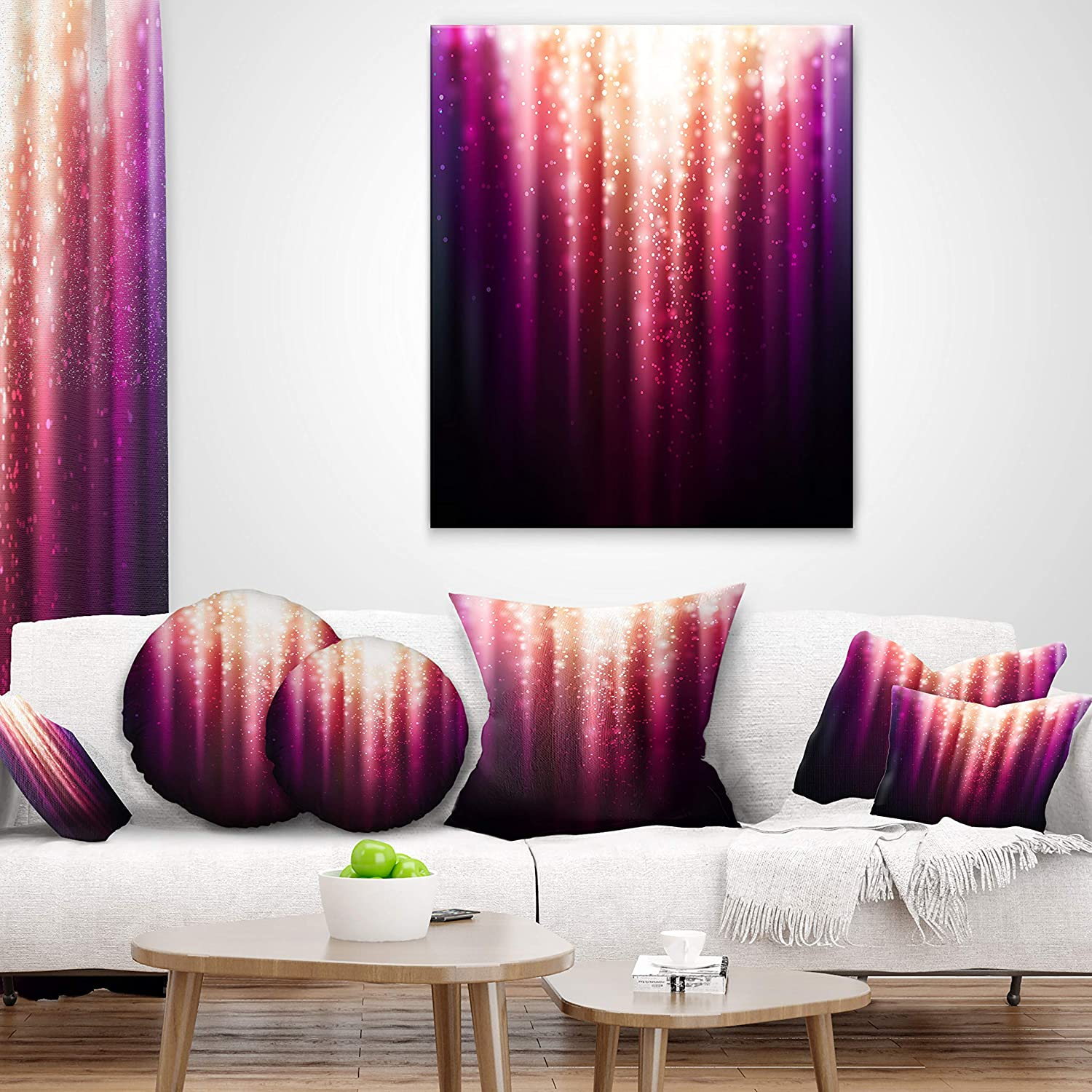 Designart CU6621-12-20 Magic Light Abstract Lumbar Cushion Cover for Living Room x 20 in in Sofa Throw Pillow 12 in Insert Printed On Both Side